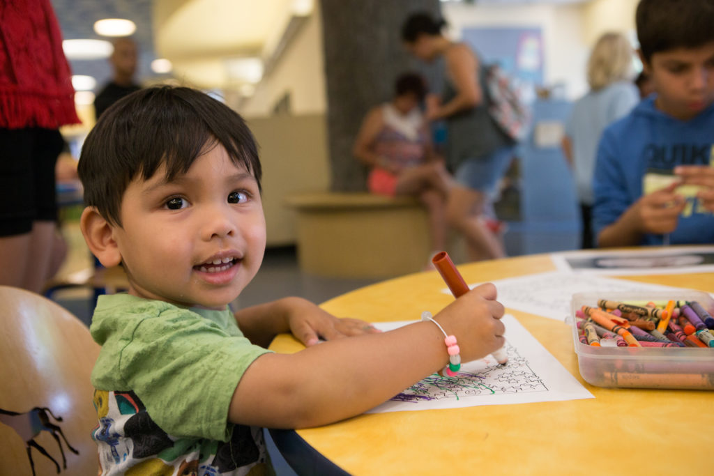 A children's program at Anaheim (Calif.) Public Library